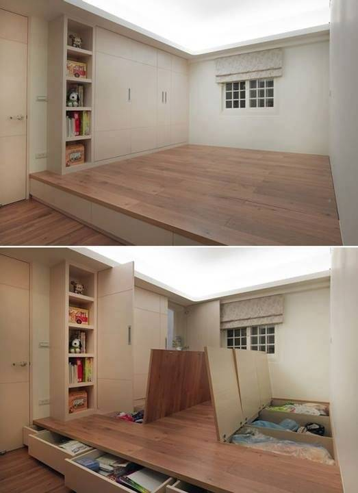 5. These hidden storage spaces will keep all of your messes contained