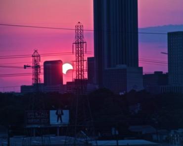 Houston,Texas Solar Eclipse