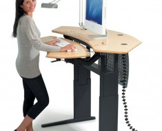 Motorized Stand Sit Computer Desk