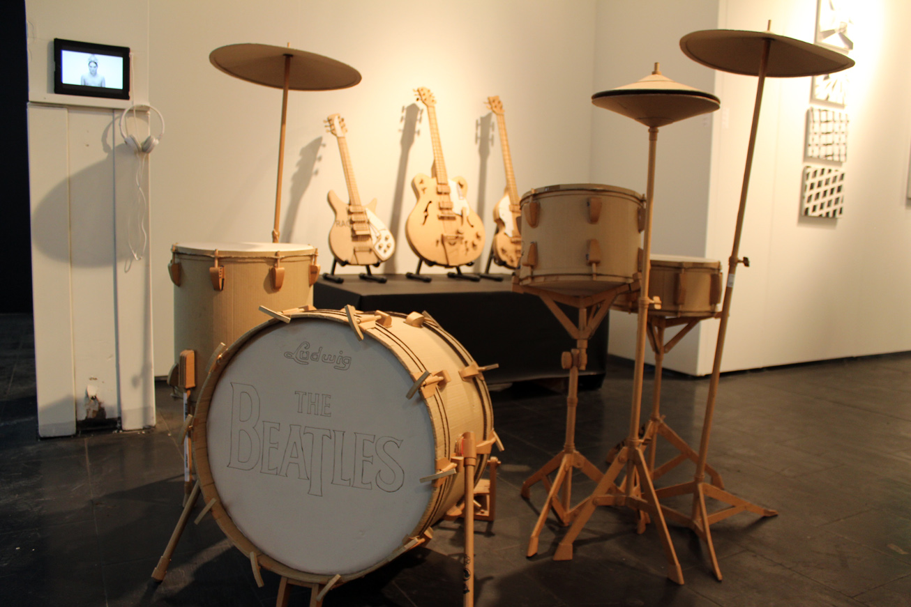 Cardboard Drum Kit_musical instruments