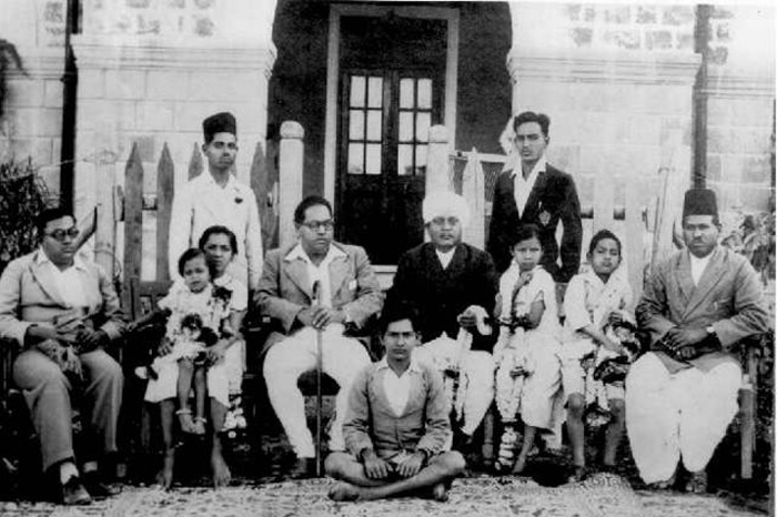 Dr. Ambedkar and his family