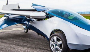 Flying Car on road