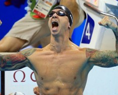 Golden oldie! Anthony Ervin