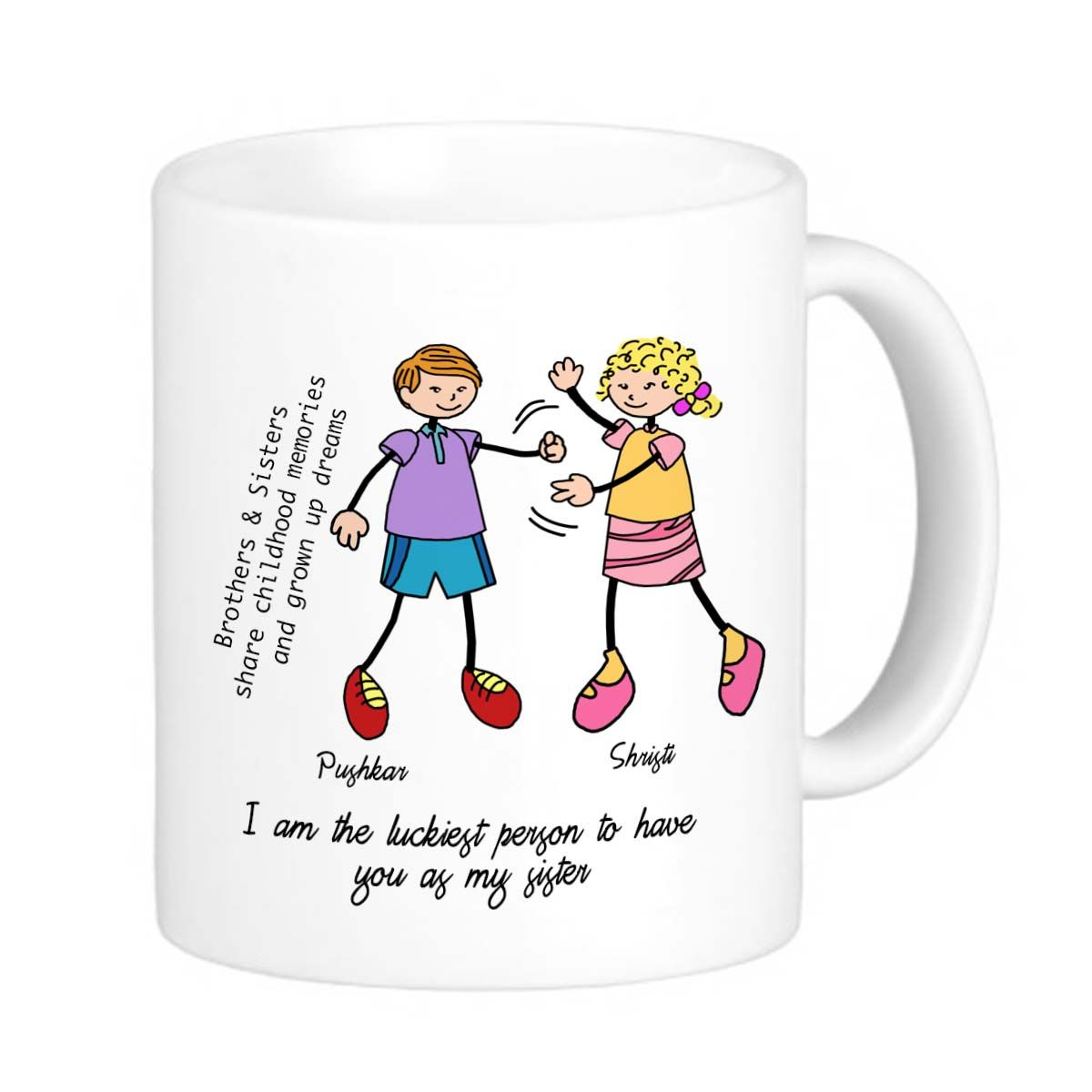 Personalized Rakhi Mug