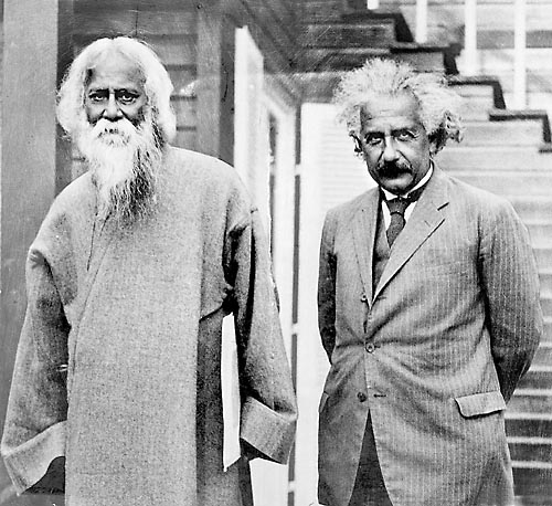 Rabindranath Tagore with Sir Albert Einstein