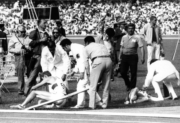 The first athlete suspended from the Olympics was suspended