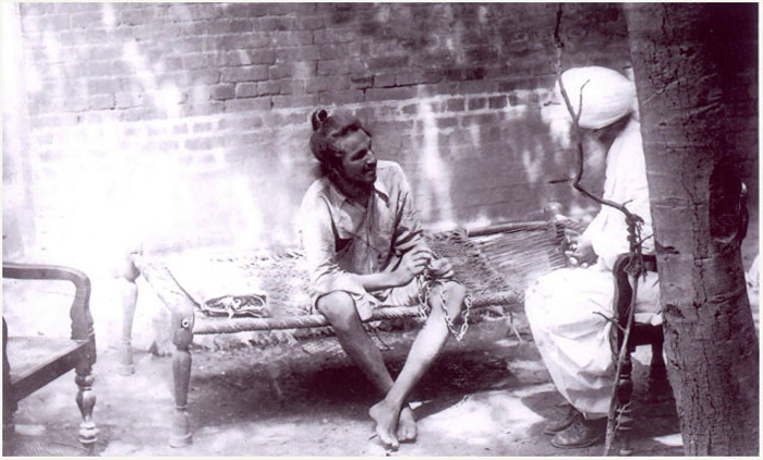 The last photograph of Bhagat Singh in Lahore jail