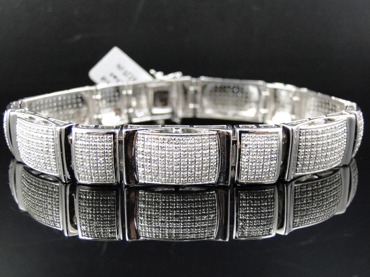 mens-diamond-link-bracelet-rolex-style_expensive-gifts