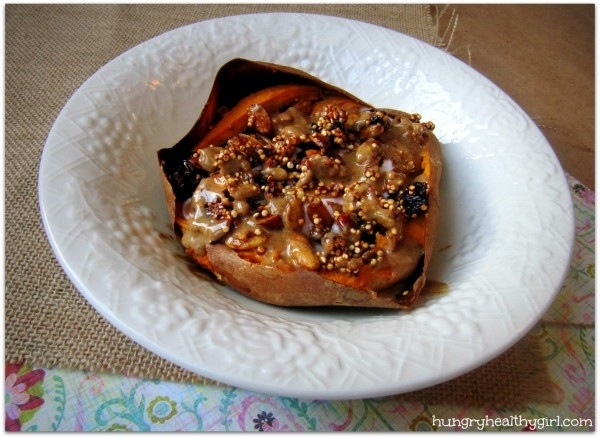 breakfast- recipe-sweet-potato-with-quinoa-pumpkin-seed-granola-and-almond-butter