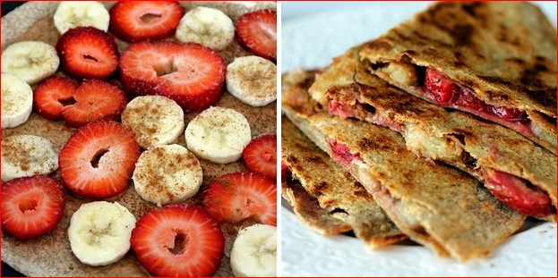 Breakfast Casserole Recipes- recipe-peanut-butter-strawberry-and-banana-quesedillas