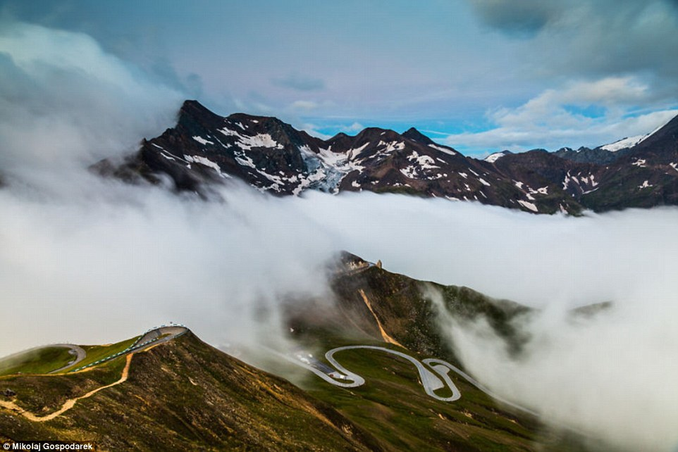Stunning Photos Of Alpine Route Snaking Through Austria's Landscape