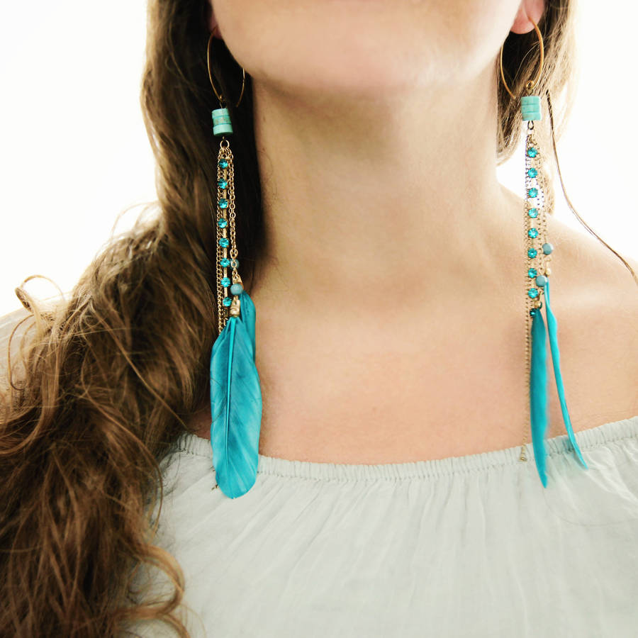 Feather Earrings-earrings