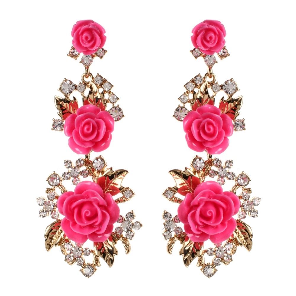 Floral-earrings
