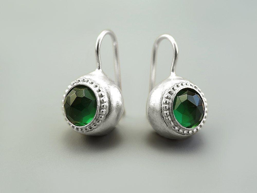 Green Stones-earrings