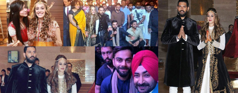 16 Inside Pictures Of Yuvraj Singh And Hazel Keech's Sangeet And Mehendi Ceremony