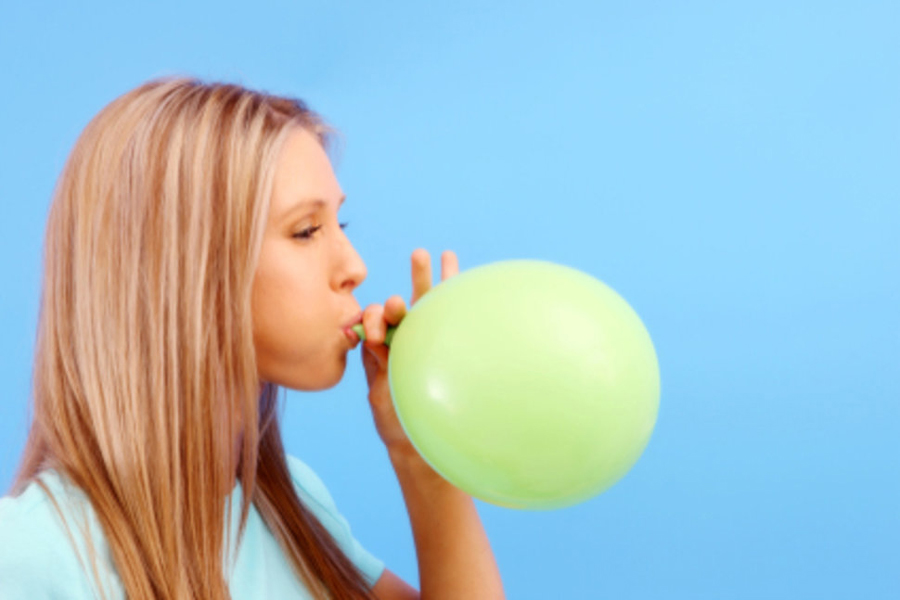 Blow Balloon for Stress Bursting