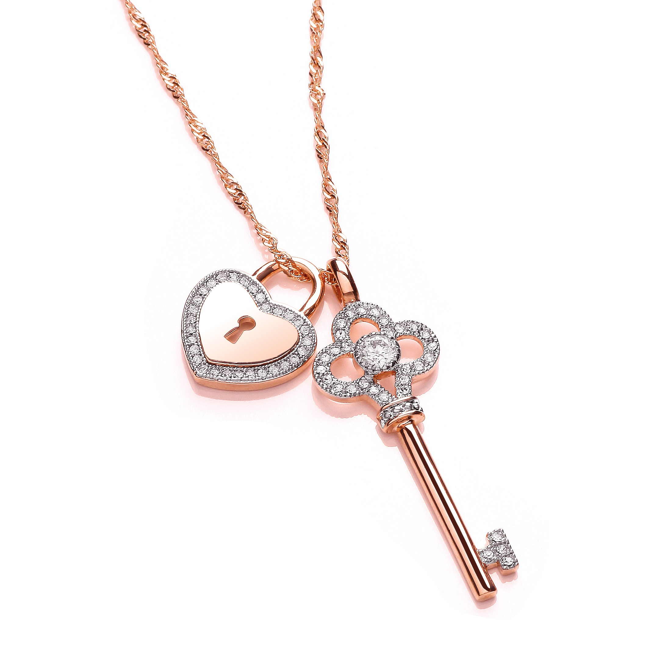 A Key And Lock Pendent For Both