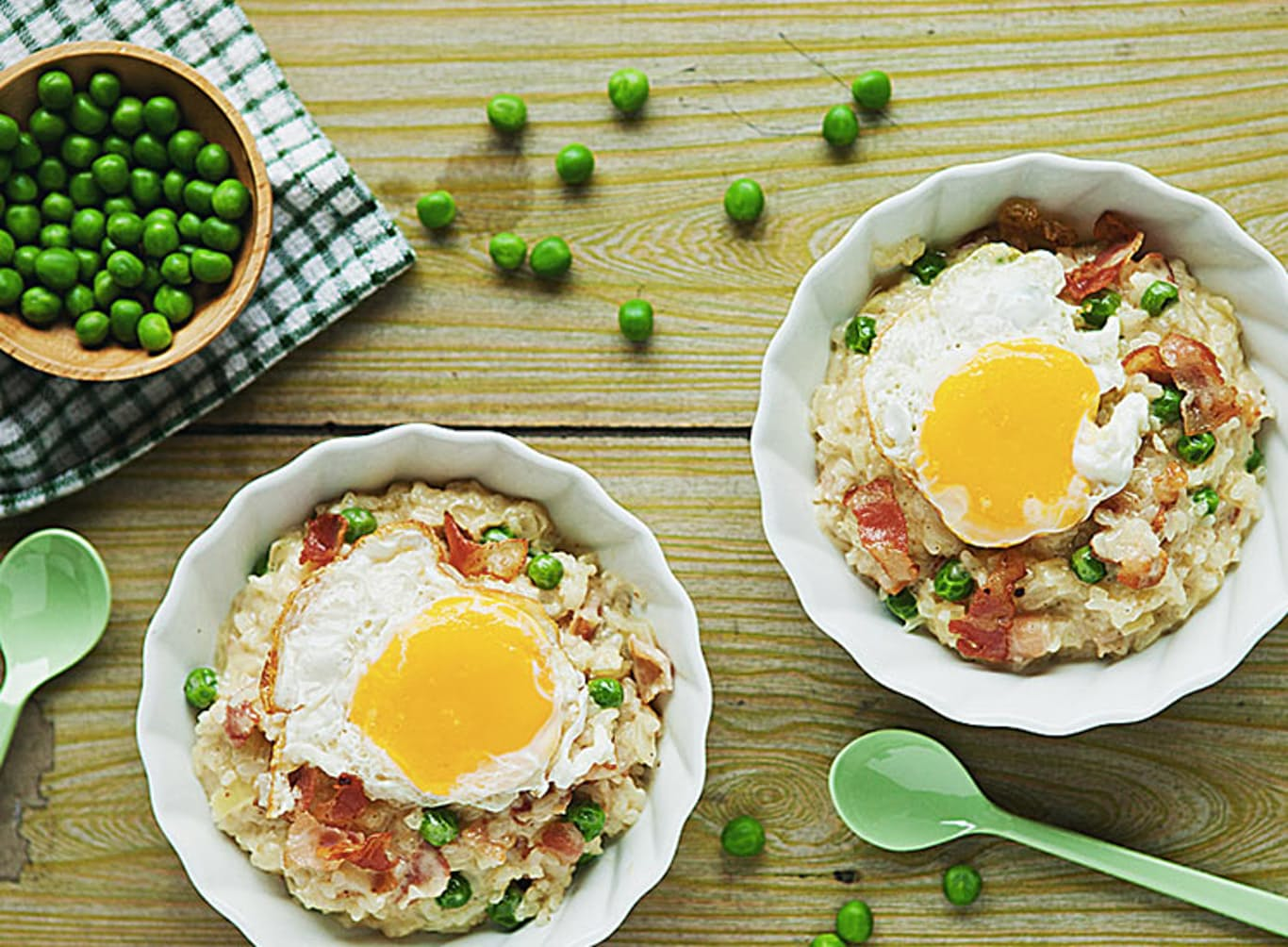 BACON AND EGG RISOTTO BOWL