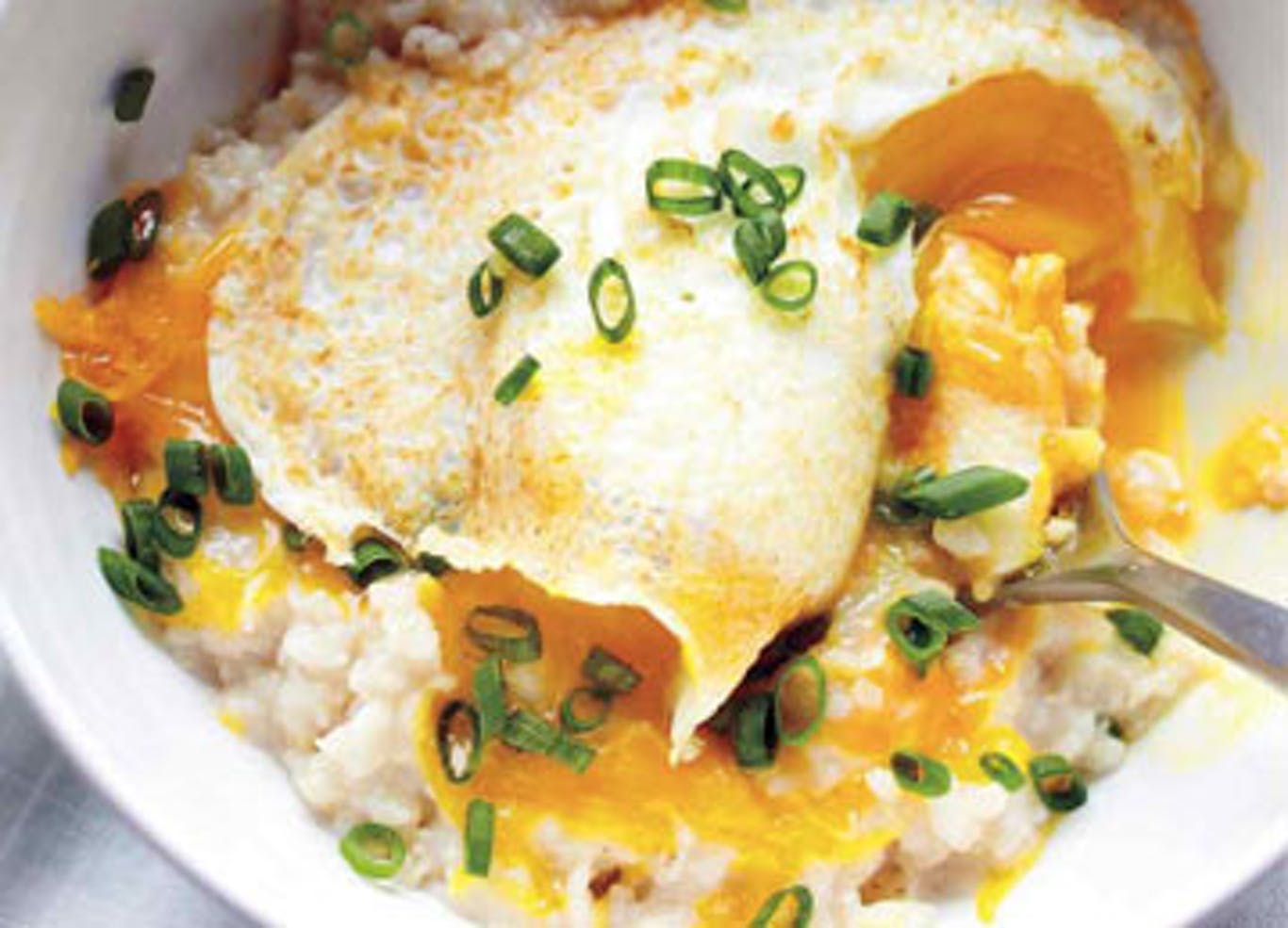 SAVORY OATMEAL AND SOFT COOKED EGG BOWL
