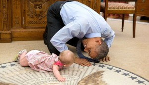 Barack Obama With Baby