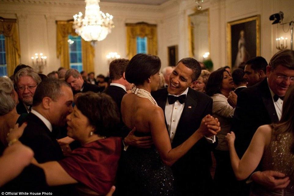 Barack Obama And Michelle Obama Dance