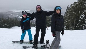 Beckham family ski holiday in Canada-1