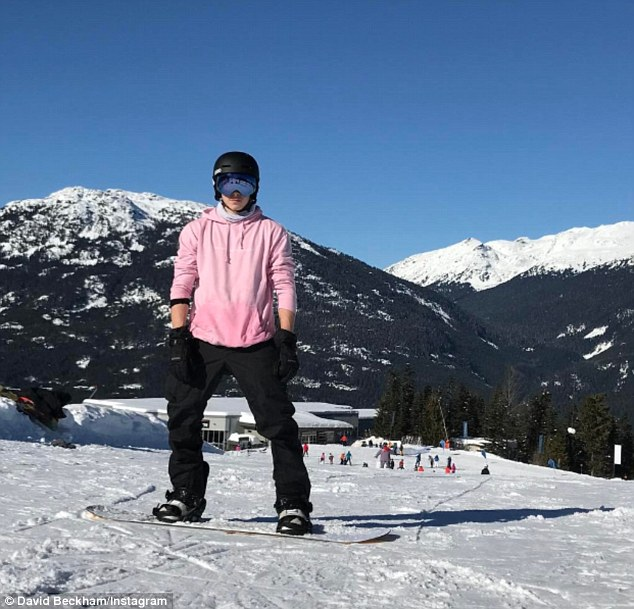 Beckham family ski holiday in Canada-2