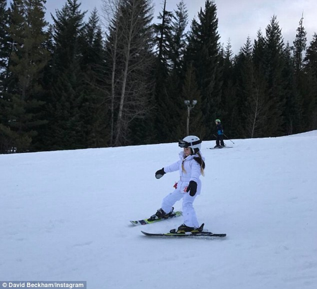 Beckham family ski holiday in Canada-6