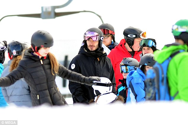 Beckham family ski holiday in Canada-8