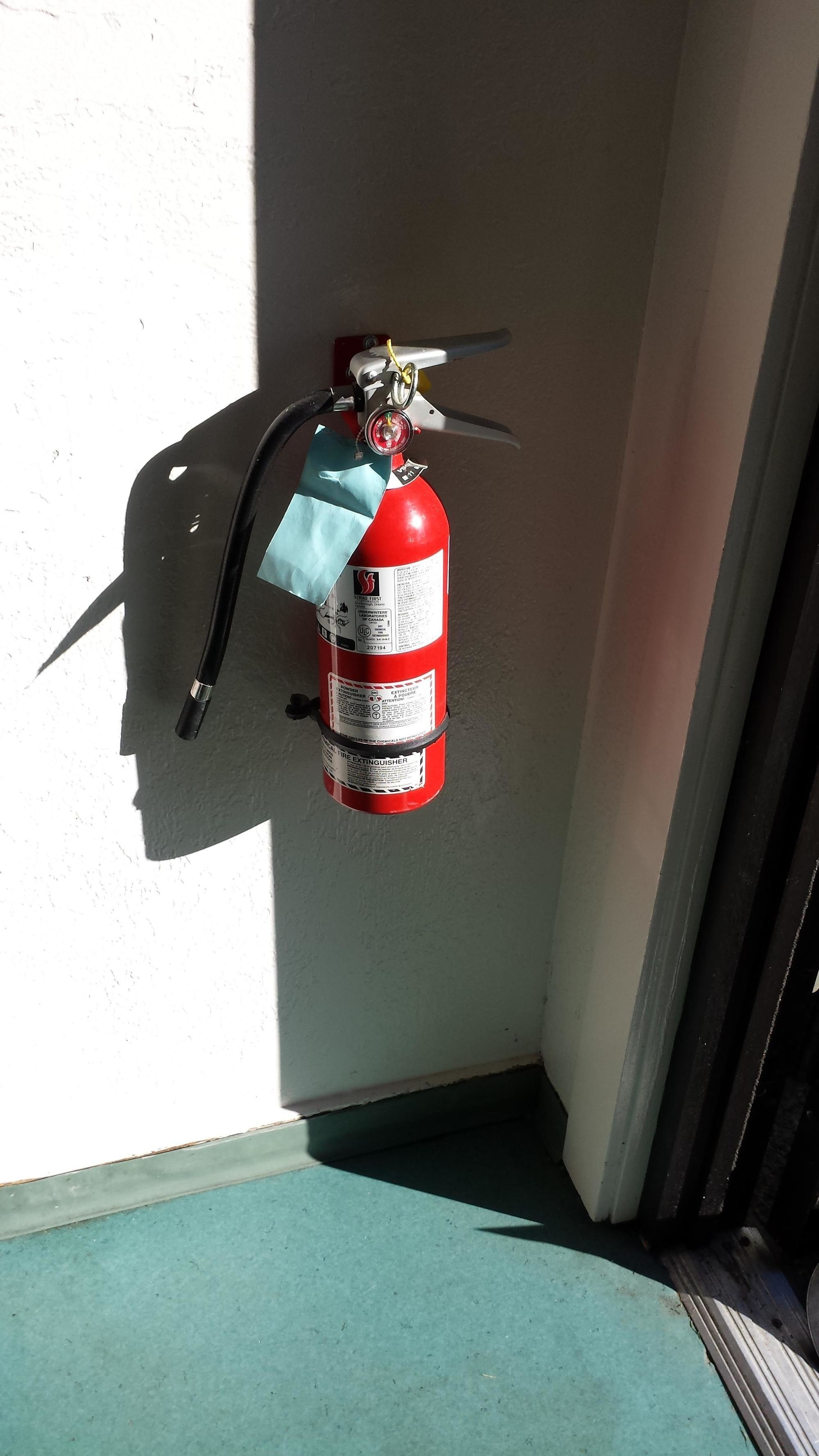 Fire Extinguisher's Shadow