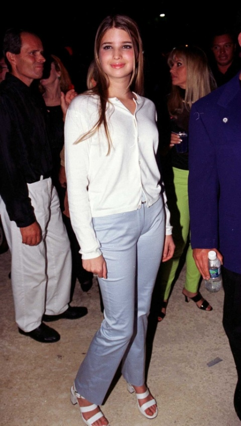 Ivanka At The Gianni Versace Fashion Show March 17, 1996