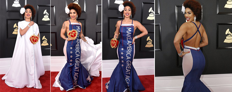Joy Villa's Album Sales EXPLODE 18,106,633%, Wearing The Make America Great Again Dress