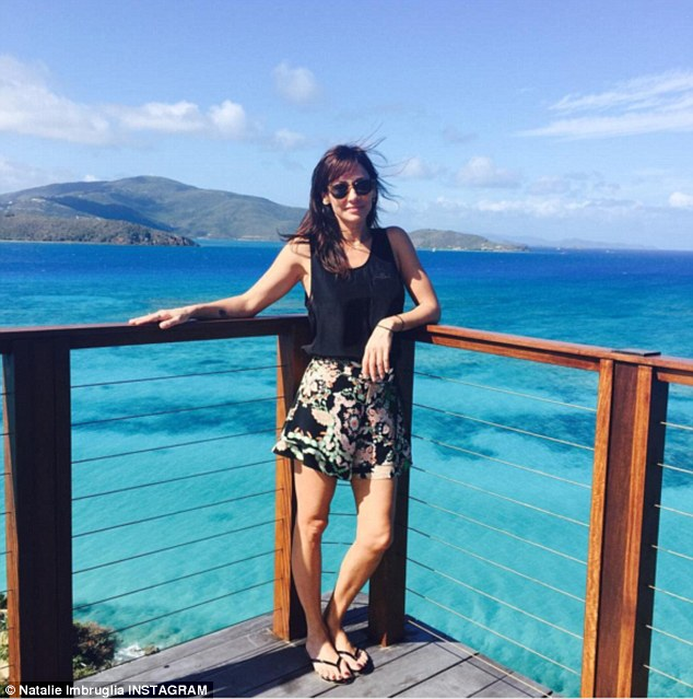 Natalie Imbruglia has been documenting a lavish stay at Sir Richard Brandsons private Necker Island
