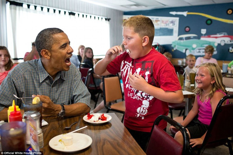 Obama Shares His Strawberry Pie