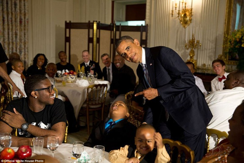 Obama With A Young Boy