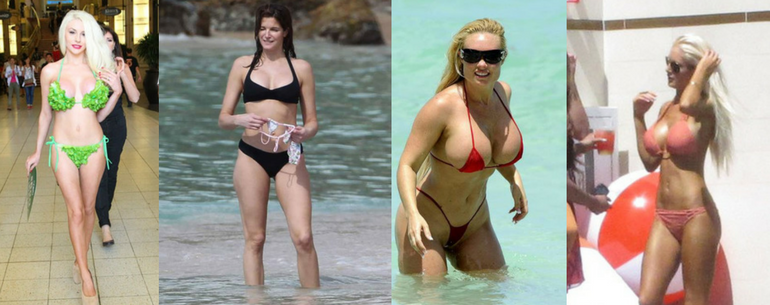 21 Celebrities Who Revealed Their Bodies In Outrageous Bikinis. #5 Is The Most Nasty