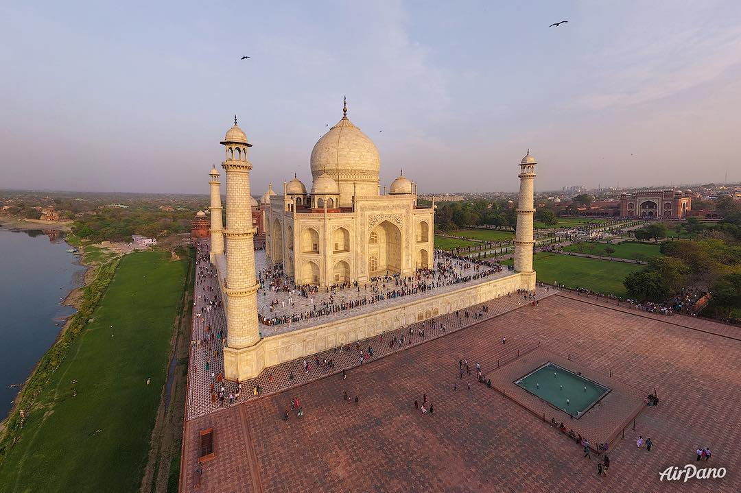 Taj Mahal, Aerial Photographs Of Cities