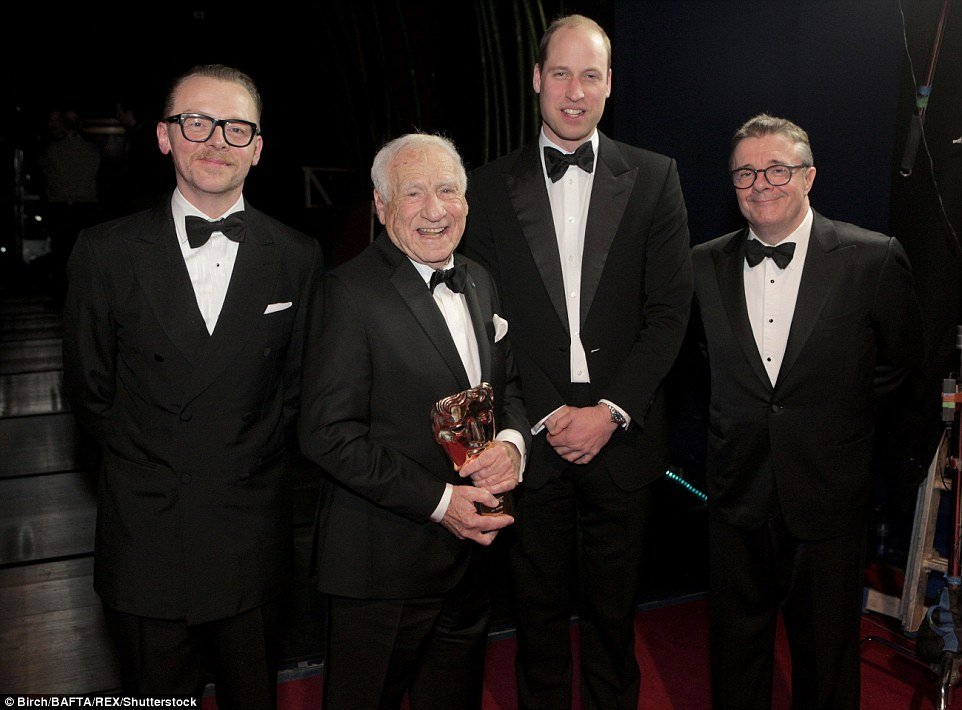 Simon Pegg, Mel Brooks, Prince William and Nathan Lane