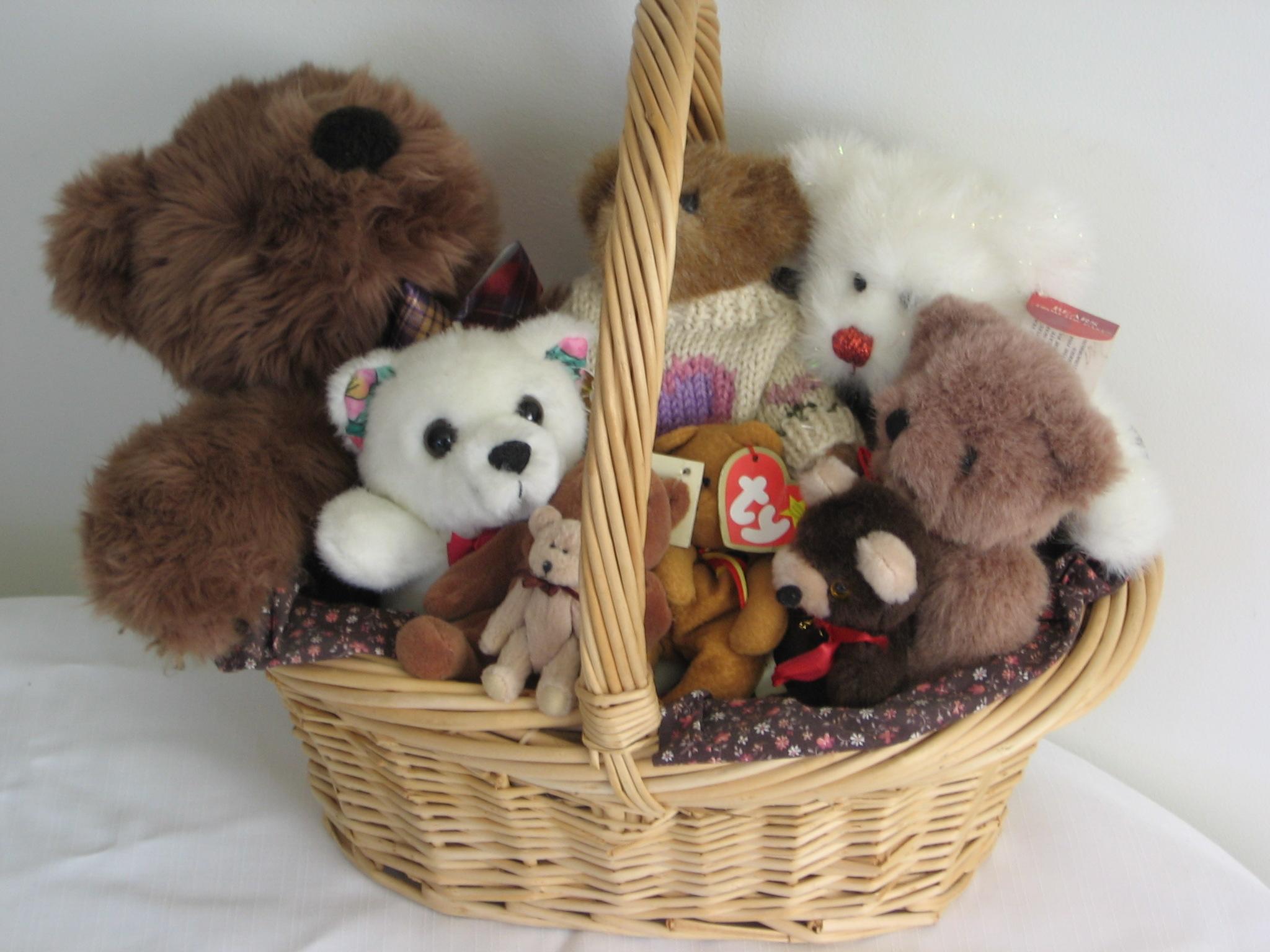 Teddy In A Cute Basket