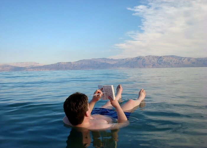 Float on the dead sea in Jordan, weird travel destinations