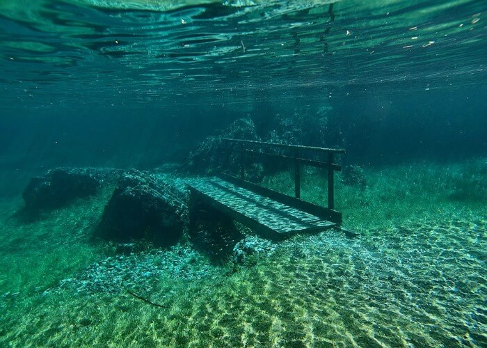 Every spring this park disappears under water