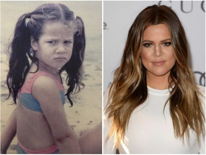 Khloe Kardashian-child actors then and now