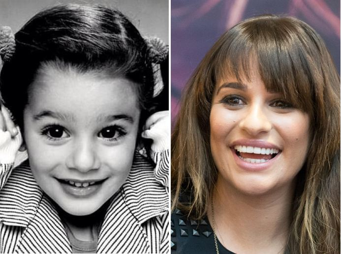 Lea Michele-movie stars then and now