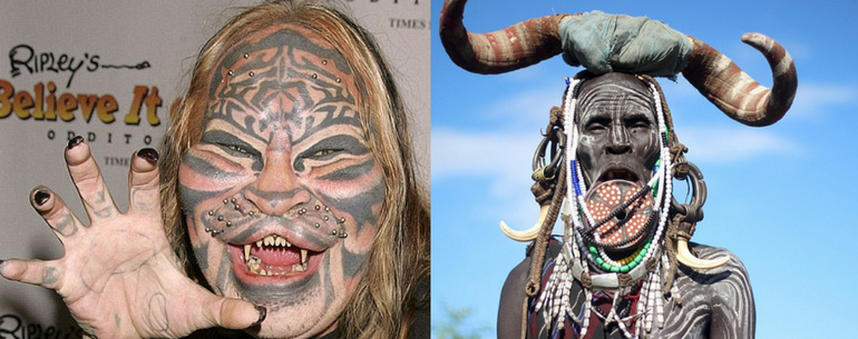 most extreme body modifications in the world
