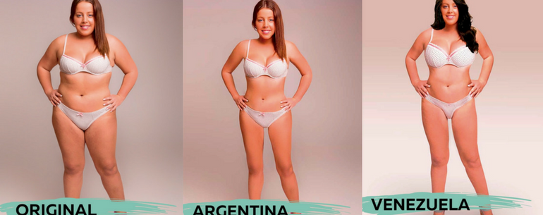One Woman Photoshopped By 18 Countries To Examine Global Beauty Standards