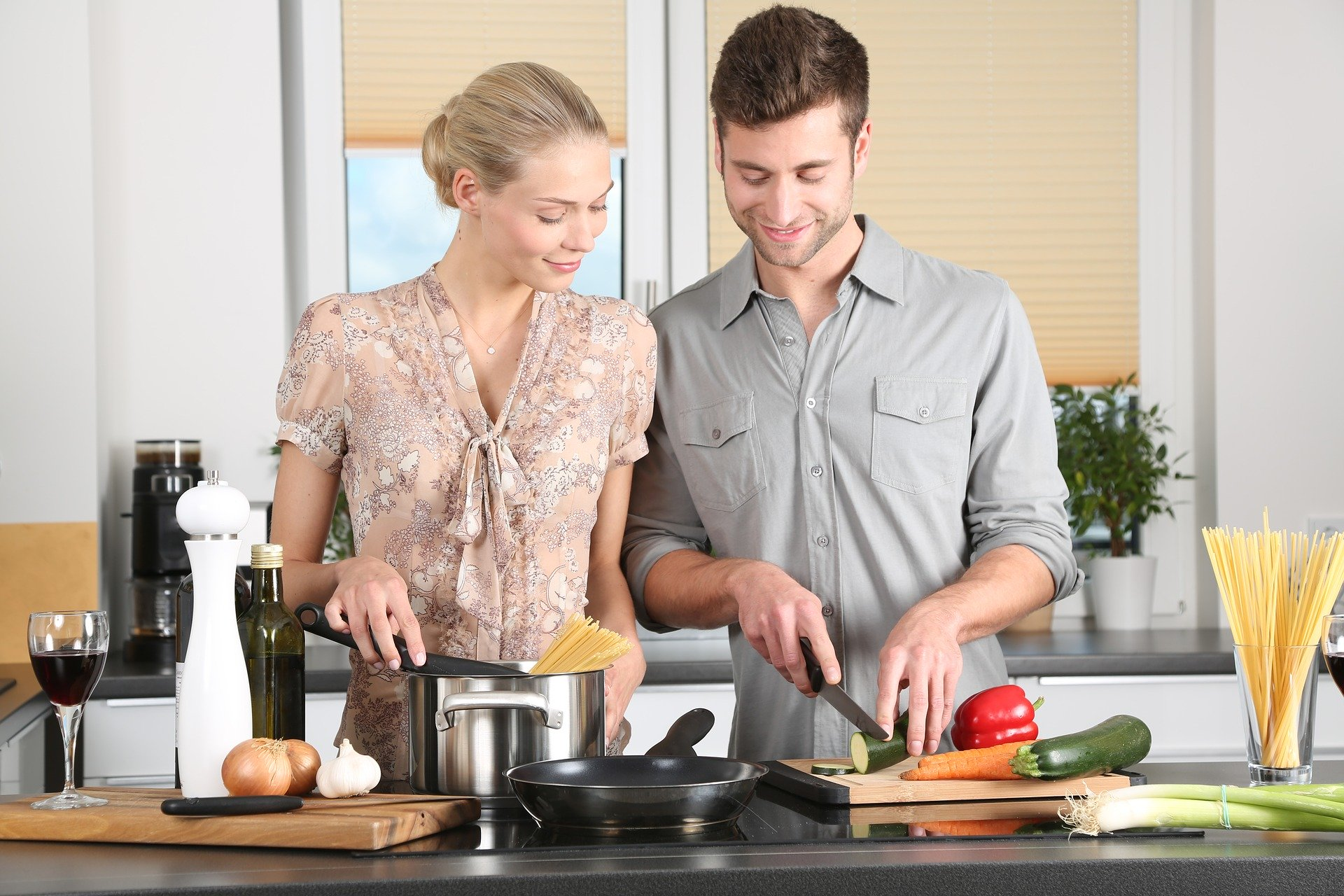 Perfect boyfriend cooks well