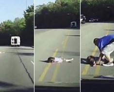 four-year-old girl falling out