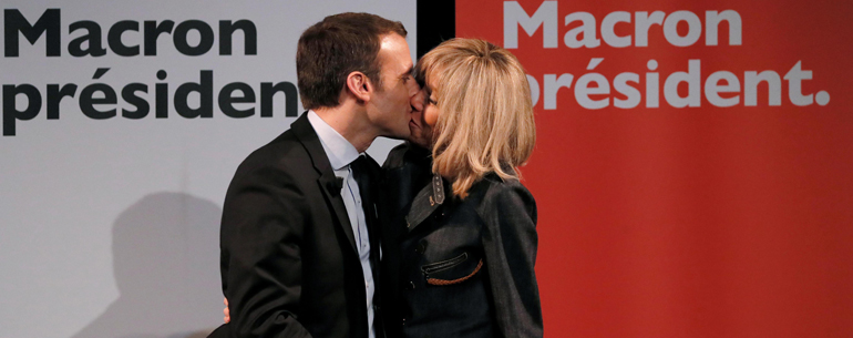 The Curious Love Story of Emmanuel Macron, France's President In Waiting! Vive l'amour!
