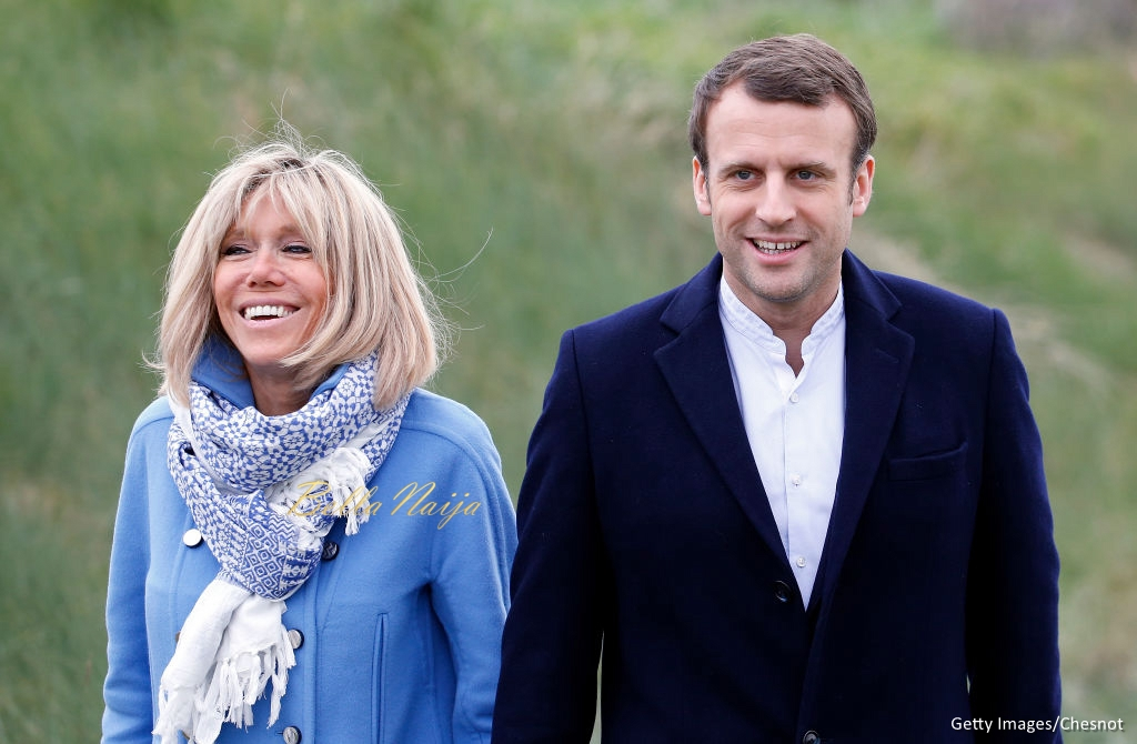 Emmanuel Macron and Brigitte Trogneux