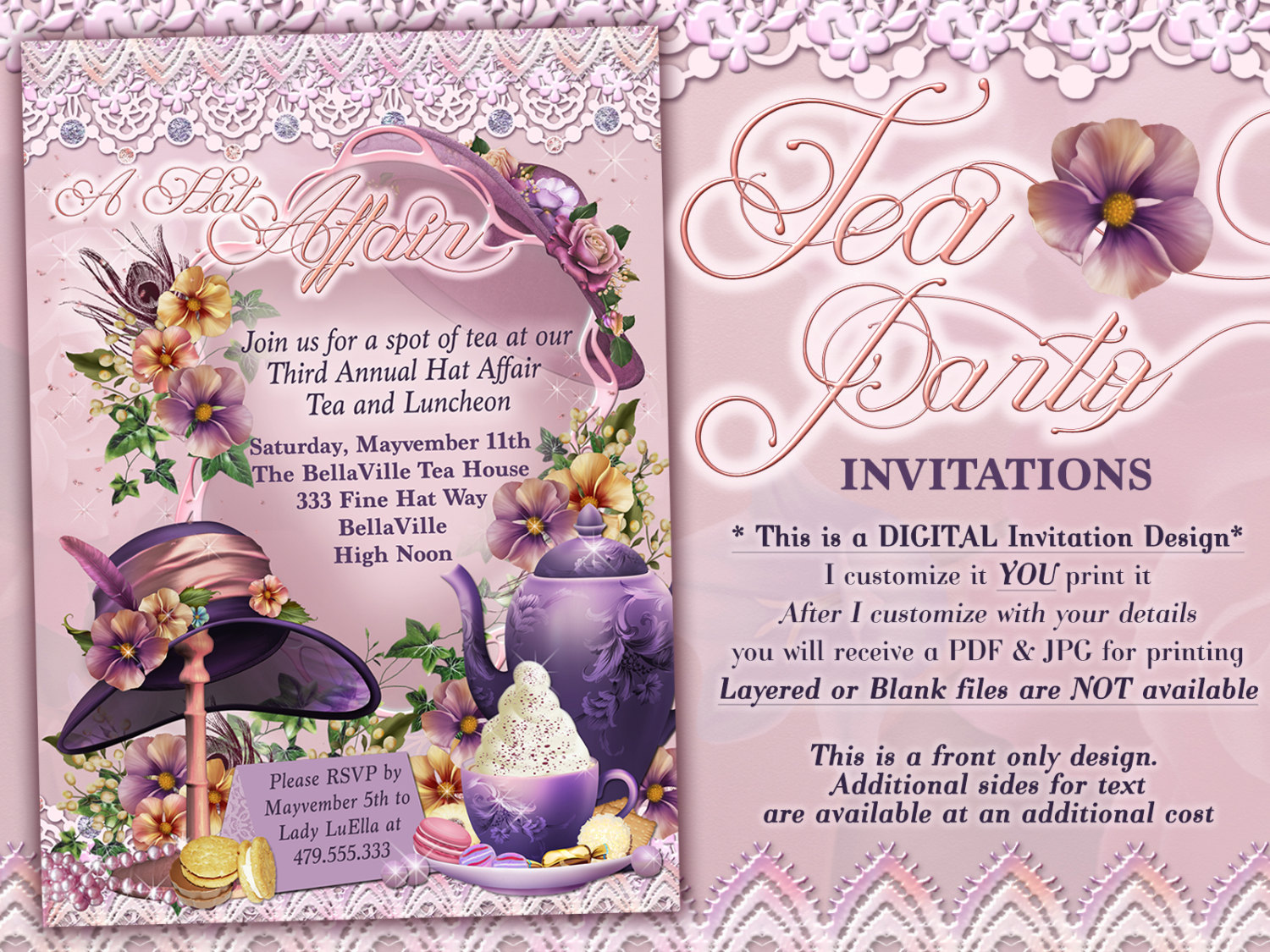 Party Hat Invitations